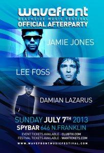 Jamie Jones, Lee Foss, Damian Lazarus @ Spybar Chicago 7.7.13 Wavefront Official After-Party
