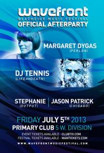 Margaret Dygas & DJ Tennis @ Primary Chicago 7.5.13 Wavefront Official After Party