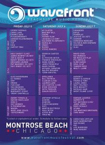 Wavefront Music Festival 2013 Schedule Lineup