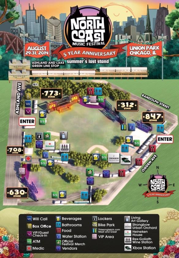NCMF Festival Map