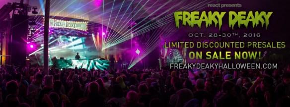 Freaky Deaky 2016 Pre Sale Tix Banner