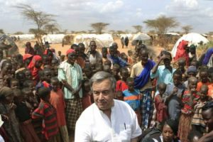 U.N. High Commissioner for Refugees António Guterres visits a Somali refugee camp in Kenya in July 2011. Guterres is poised to become the new U.N. secretary general. (Rebecca Blackwell/Associated Press)