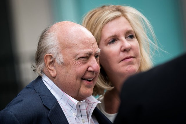 Roger Ailes with his wife, Elizabeth, in New York last July. Credit Drew Angerer/Getty Image