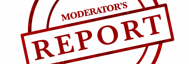 Moderators Report Header