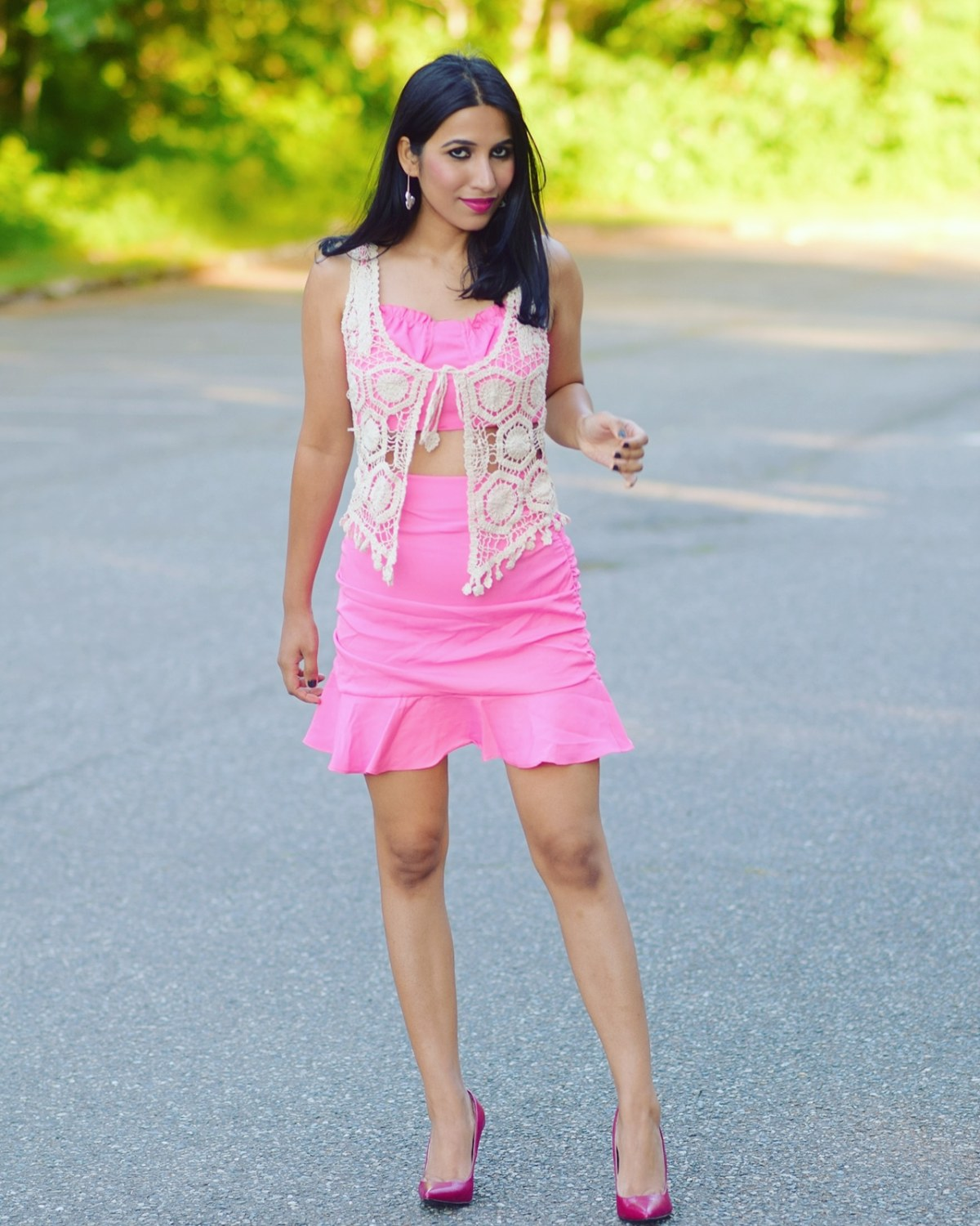 https://femmeluxefinery.com/products/pink-ruched-co-ord-viv