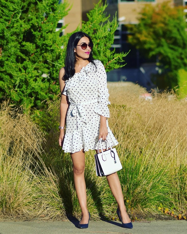 https://femmeluxefinery.com/products/white-polka-dot-ruffle-one-shoulder-dress-alea