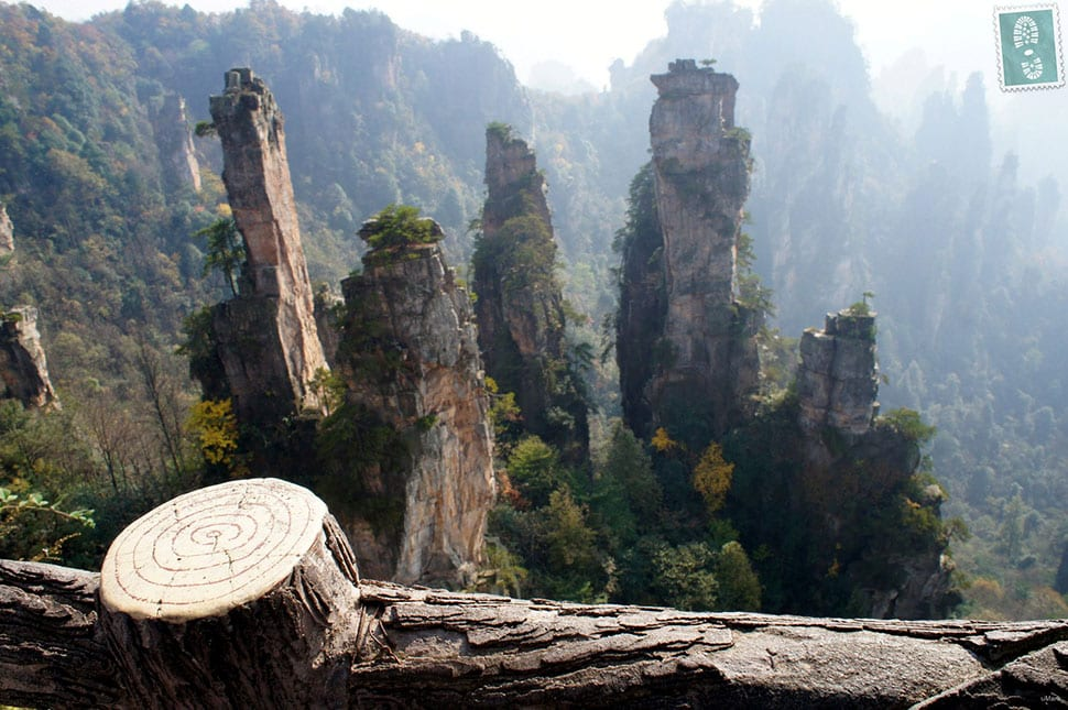 The Floating Hallelujah Mountains in Zhangjiajie, Hunan Province