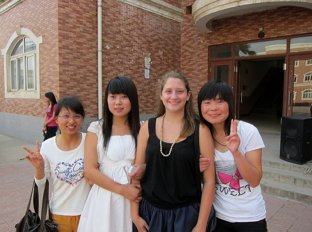 Posing with Locals - A Year Without Makeup