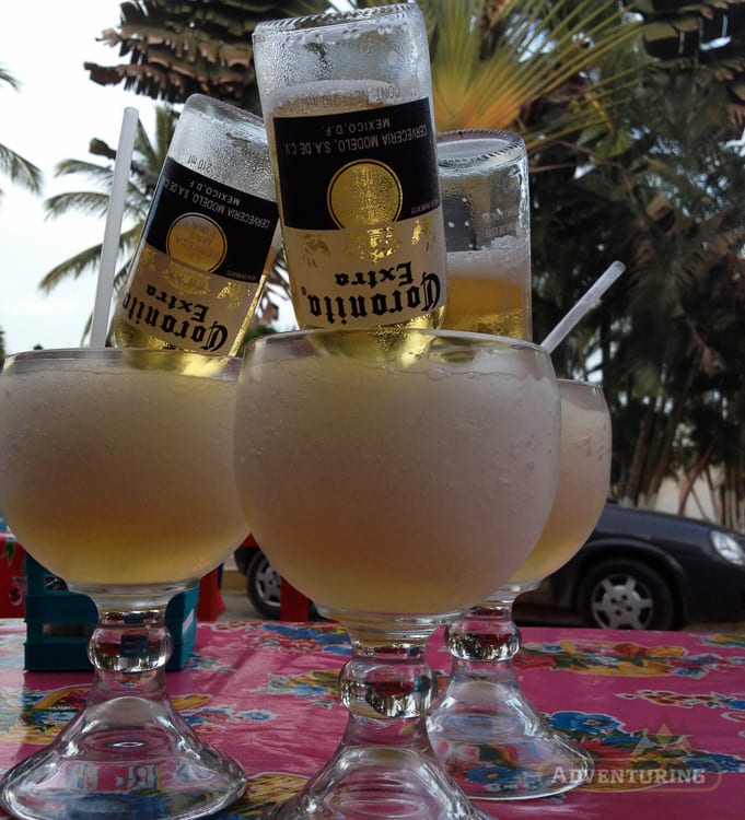 Coronas upside down in Margaritas - Expat Life Mistake #1: Not Learning the Language
