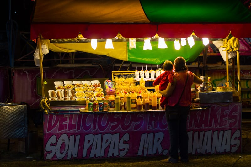 A Mom and Child Picking Out Snacks at Sayulita Days