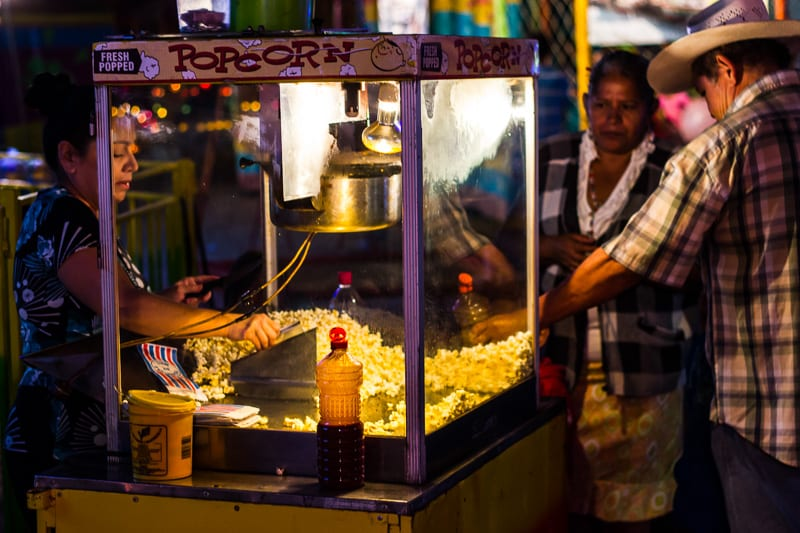 Popcorn for Sale at Sayulita Days in Mexico
