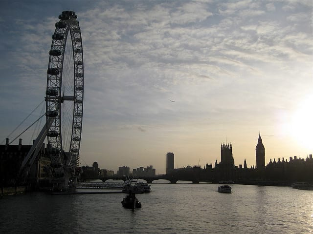 The London Eye at Sunset - What Should I Major in For a Life of Travel