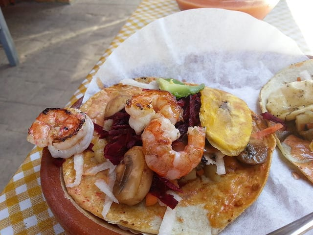 Shrimp Tacos on Corn Tortillas - The Best Sayulita Restaurants for Mexican Food