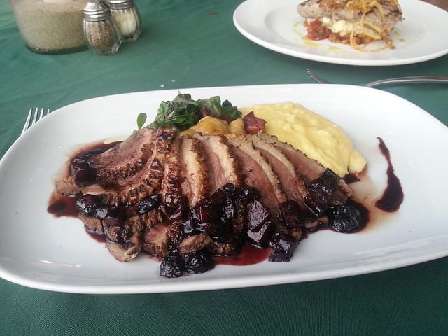 Roast Duck and Mashed Potatoes at Don Pedros in Sayulita - The Best Non-Mexican Sayulita Restaurants