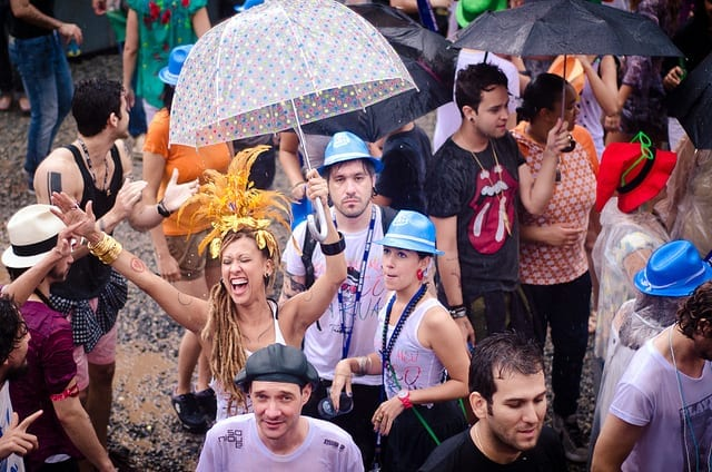Partiers in the Streets of Brazil - Carnaval in Brazil