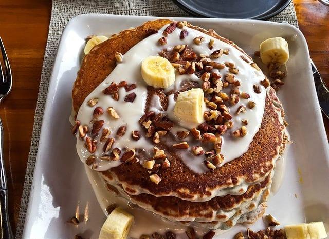 The Molokai Purple Potato Pancakes at Cane and Canoe in Maui - Where to Eat in Maui