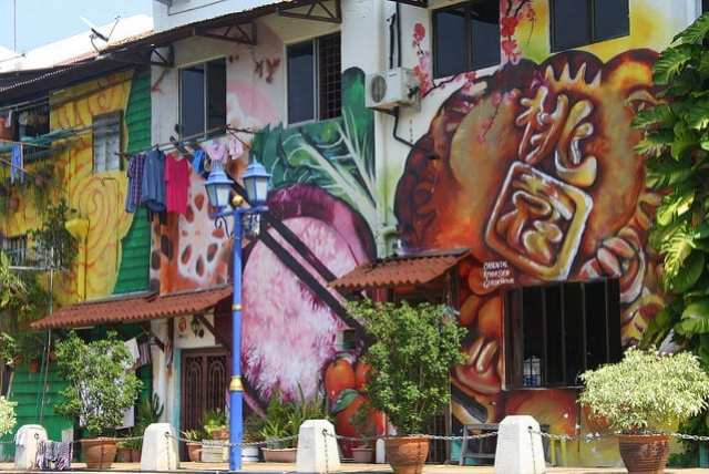 Street Art on a Street in Asia - How to Travel Slow on a Short Trip