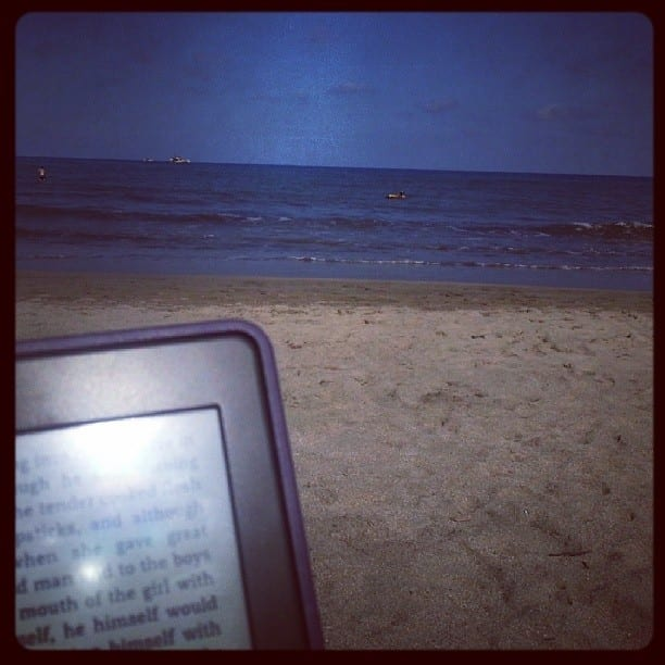 My Kindle on the Beach