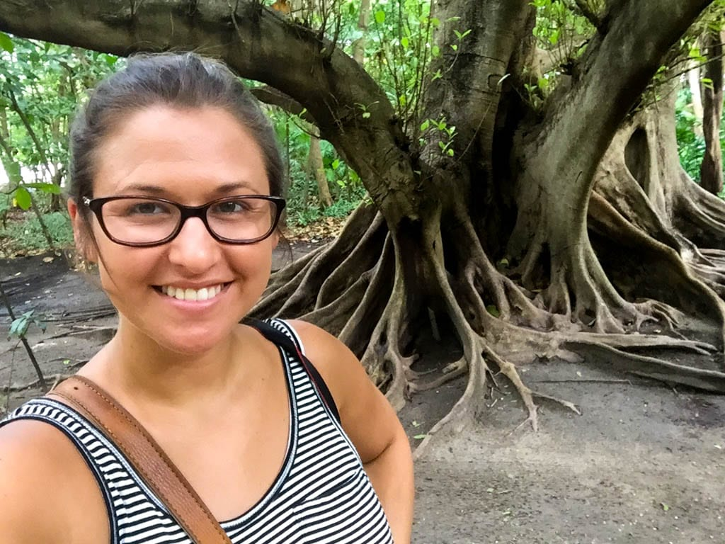 Meghan in front of some trees - Things to do in Cancun Off the Beaten Path