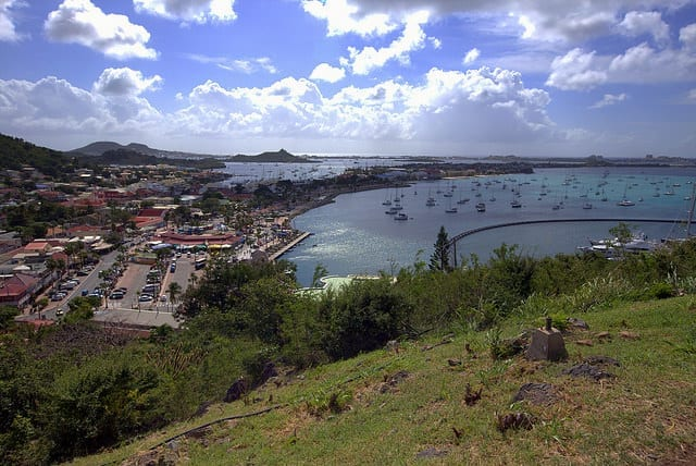 The Port of St. Martin from Above