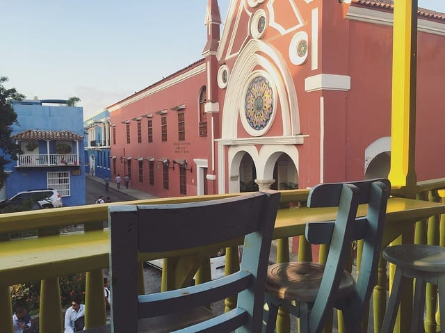 Architectural Views of Cartagena from a Cafe - Things to do in Cartagena