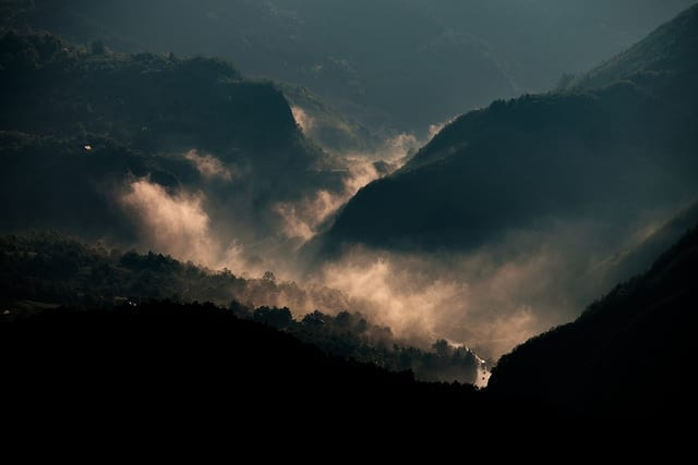 Fog Rising from the Mountains - Driving in Bosnia