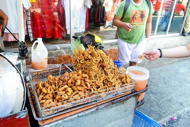 Fried Snacks on the Street in Manila - Should You Visit Manila