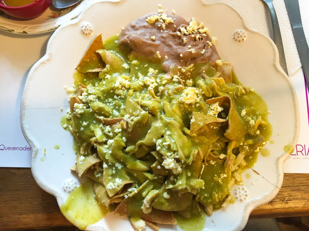 Gluten free in mexico chilaquiles