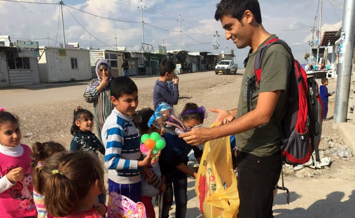 Handing Out Toys at a Syrian Refugee Camp - Positive Experiences in Muslim Countries