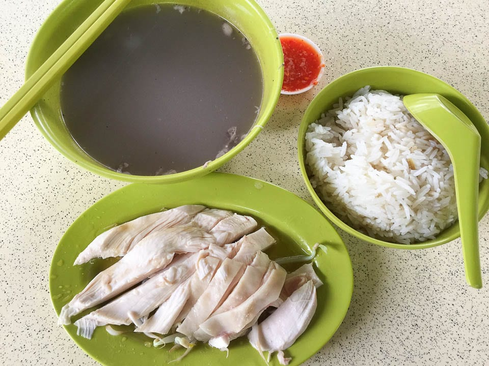Chicken Rice - One of the Hawker Foods in Singapore You Should Eat