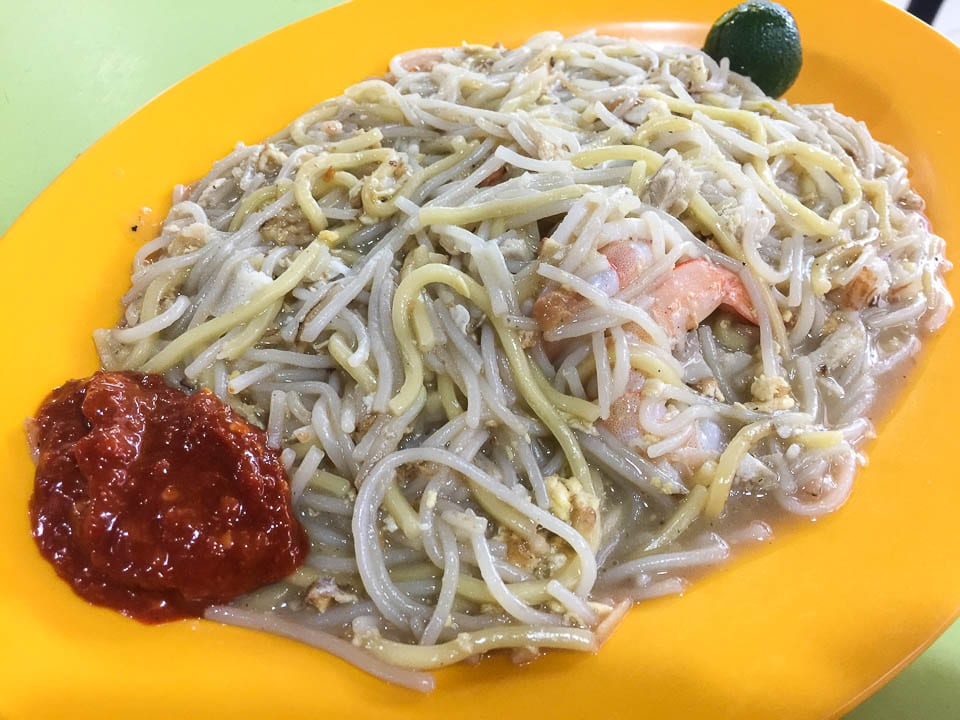 Don't Miss Out on Fried Hokkien Mee, one of the Hawker foods in Singapore