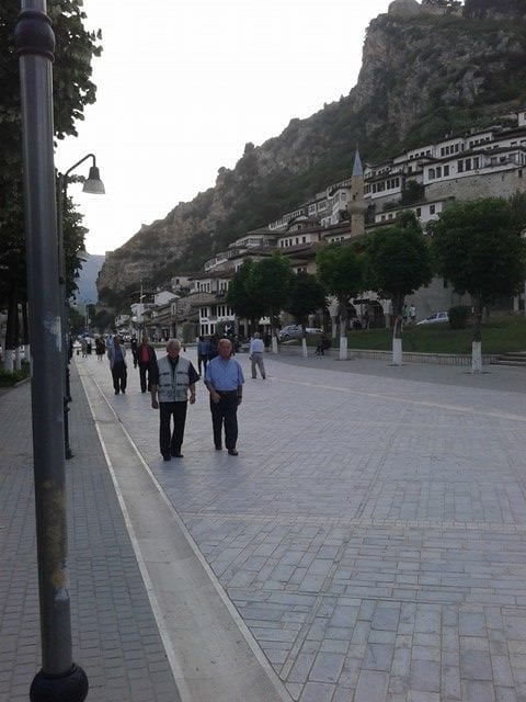 Albanians Walking Down the Xhiro - Albania Travel