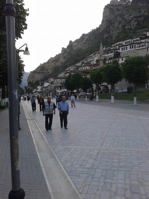 Albanians Walking Down the Xhiro - Albania Travel