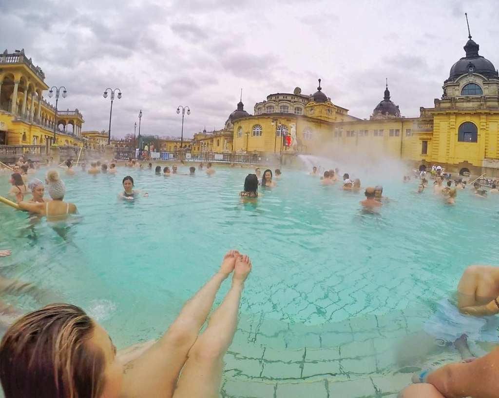 The Baths in Budapest - Traveling Europe on a Budget