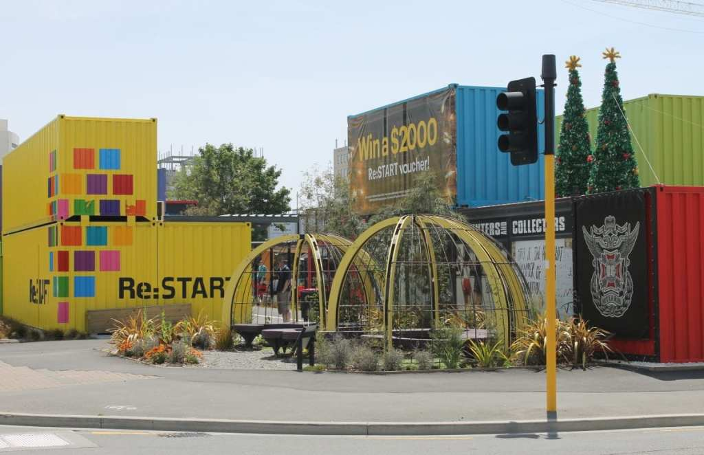 Re:Start Mall in Downtown Christchurch, New Zealand