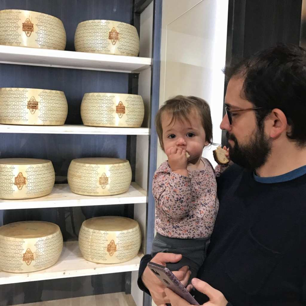 Checking out the cheese at Fico Eataly