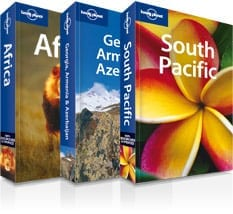 Image of 3 Lonely Planet Books - Lonely Planet Books make some of the best gifts for travelers
