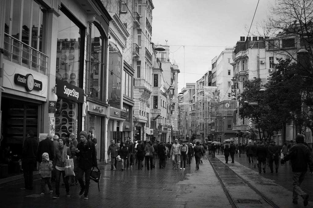 The Streets of Taskim in Istanbul in Black and White - Istanbul and Cappadocia in Beautiful Photos
