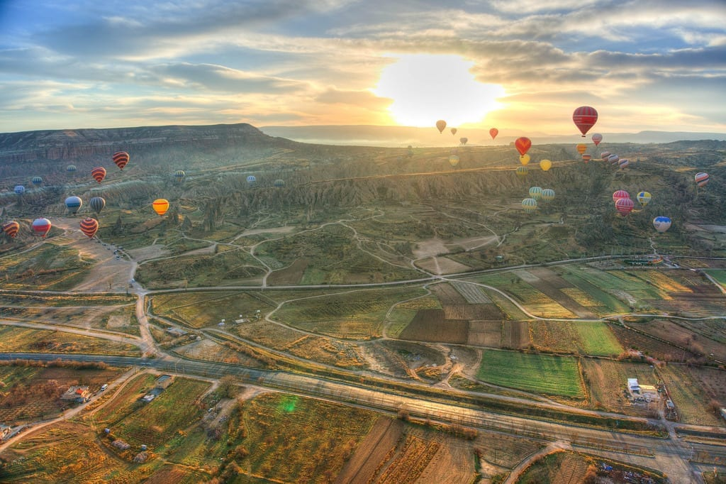 The Sunrise Over Cappadocia with Hot Air Balloons - Istanbul and Cappadocia in Beautiful Photos