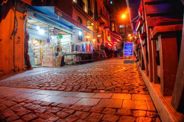 The Streets of Istanbul at Night