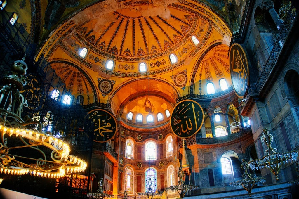 The Interior of the Hagia Sophia - Istanbul and Cappadocia in Beautiful Photos