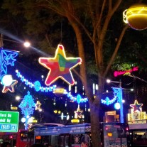 stars blue lights Orchard Road