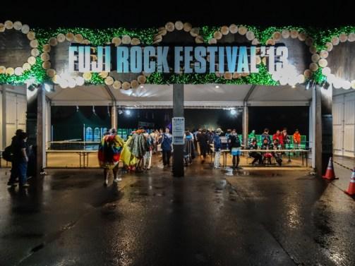 Fuji Rock 2013 - wejście