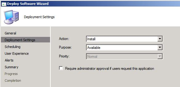 Application Deployment - No Request needed