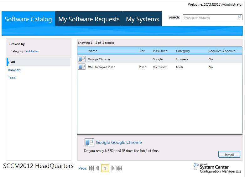 Granted request ConfigMgr 2012