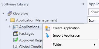 Create Application SCCM2012