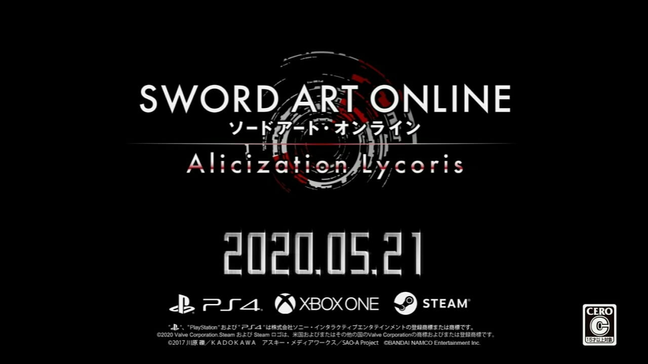 Trailer Dari Game Sword Art Online Alicization Lycoris Pratinjau Cerita dan Gameplay 1