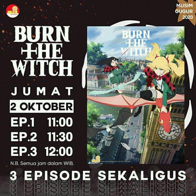 Anime Burn The Witch Akan Ditayangkan oleh Muse Indonesia 2
