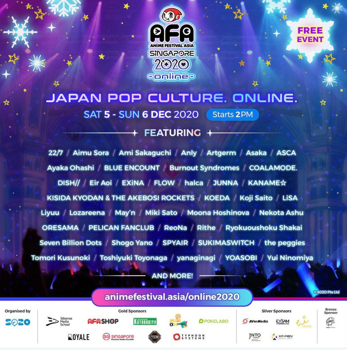 Anime Festival Asia - Singapore 2020 LINE UP J-Pop Idol & Puluhan Konten Siap Gempur AFA Fans Dalam Format Online! 4
