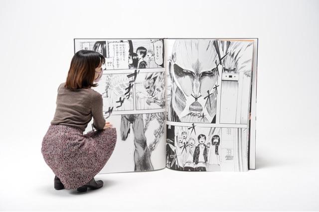 Kodansha telah Menerbitkan Manga Attack on Titan dengan Ukuran Raksasa 2